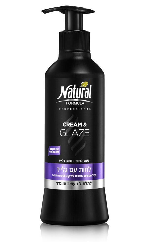 """לחות עם גלייז 400 מ""""ל Cream & Glaze נטורל פורמולה Natural Formula"""