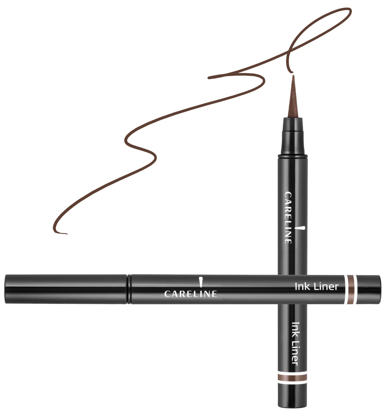 "איילינר טוש גמיש 3 מ""ל Careline Ink Liner Brown"
