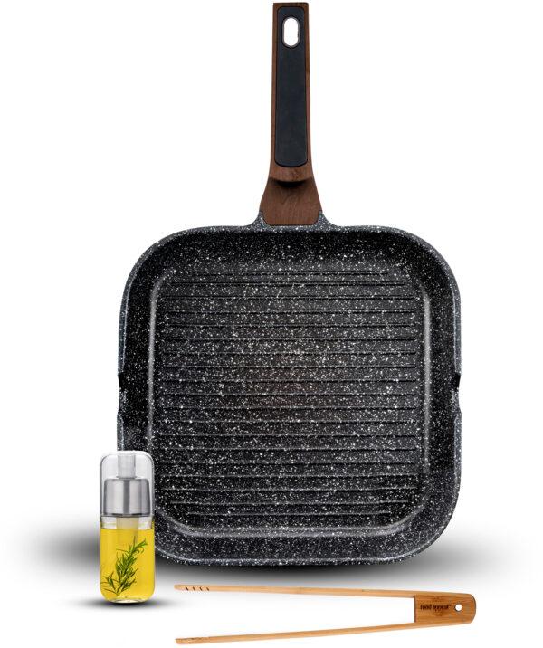 """מארז מחבת גריל 28 ס""""מ מסדרת Food Appeal Brown Mineral פוד אפיל"""