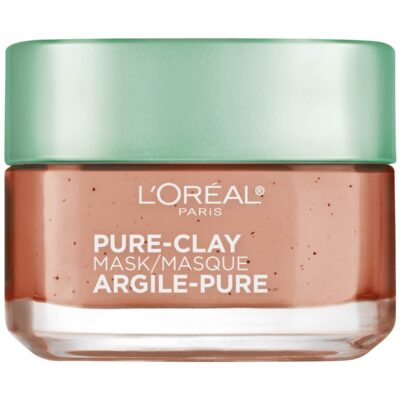 """מסכת זוהר עם גרגירים 50 מ""""ל L'Oréal Paris Red Pure Clay Mask"""