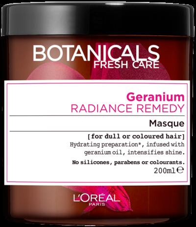 """מסכת זוהר וברק לשיער צבוע 200 מ""""ל L'Oréal Paris Botanicals Fresh Care Geranium Masque For Dull or Coloured Hair"""