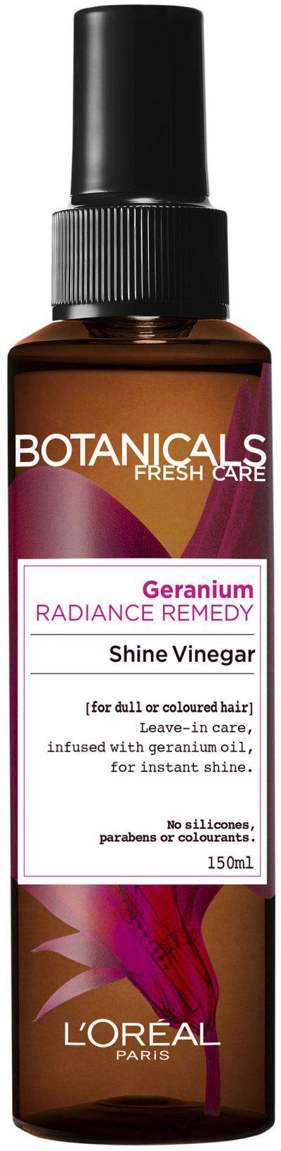 """סרום לשיער צבוע 150 מ""""ל L'Oréal Paris Botanicals Fresh Care Geranium Shine Vinegar"""