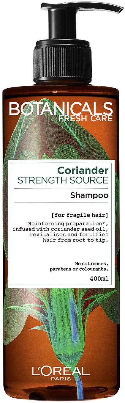 """שמפו טבעי לחיזוק השיער 400 מ""""ל L'Oréal Paris Botanicals Fresh Care Coriander"""