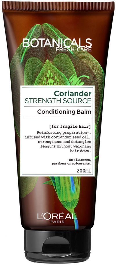 """מרכך טבעי לחיזוק סיב השערה 200 מ""""ל L'Oréal Paris Botanicals Fresh Care Coriander Conditioning Balm"""