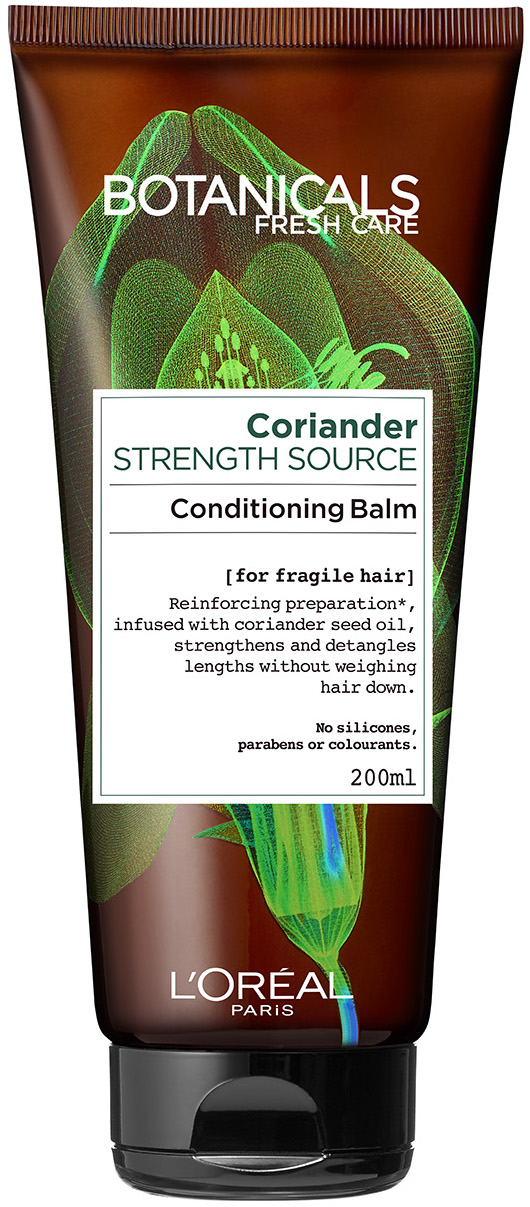 "מרכך טבעי לחיזוק סיב השערה 200 מ""ל L'Oréal Paris Botanicals Fresh Care Coriander Conditioning Balm"