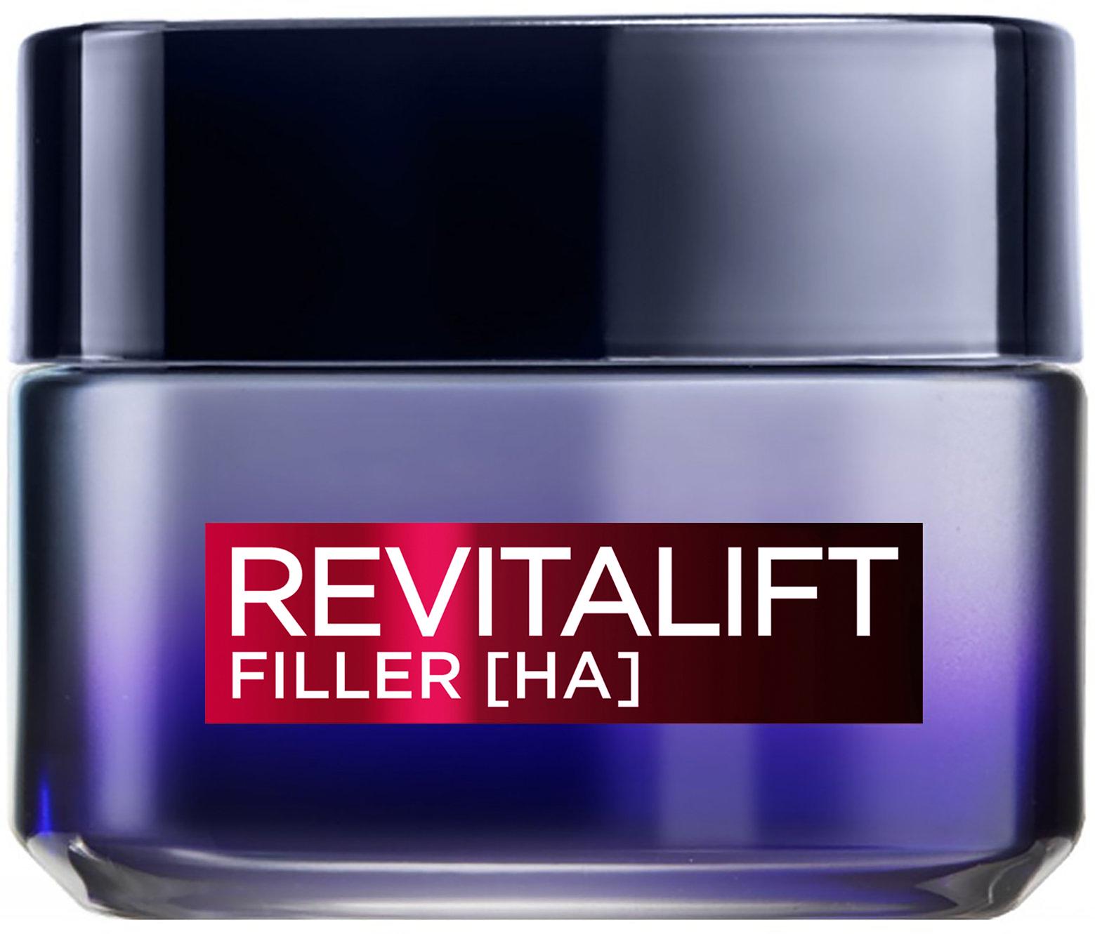 """קרם לחות ללילה רויטליפט פילר 50 מ""""ל L'Oréal Paris Revitalift Filler Night Cream"""