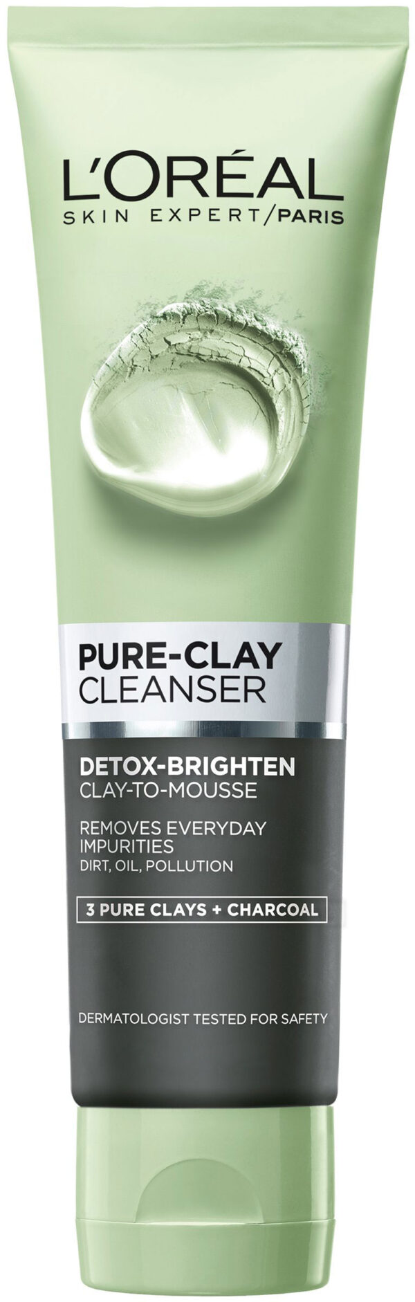 תרחיץ פנים שחור 150 מ״ל Pure Clay Cleanser 3 Pure Clays + Charcoal