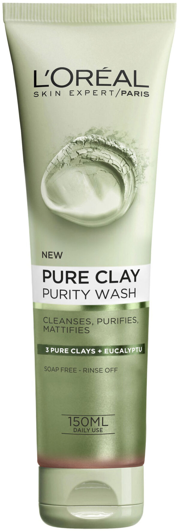 תרחיץ פנים ירוק 150 מ״ל Pure Clay Purity Wash 3 Pure Clays + Eucalyptu