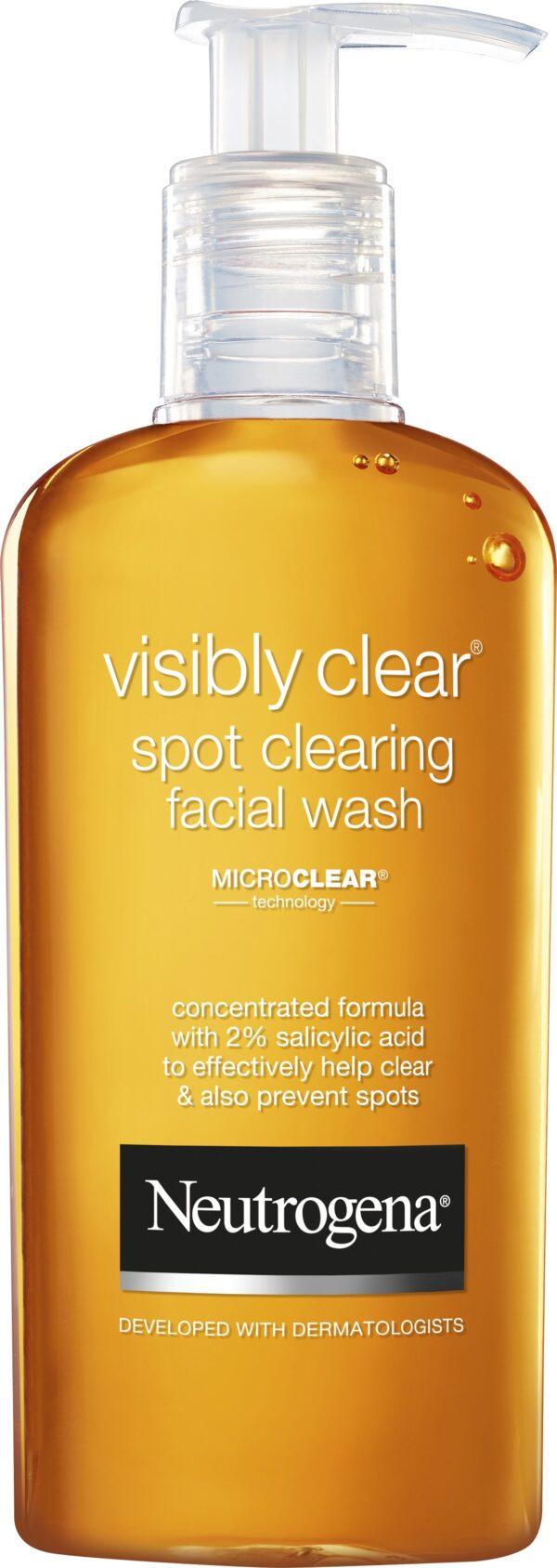 תרחיץ פנים יומי לעור הסובל מפצעונים וראשים שחורים מסדרת ®Visibly Clear