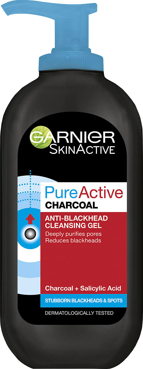 """גרנייה פיור פחם ג'ל ניקוי 150 מ""""ל Garnier Pure Active Charcoal Gel"""
