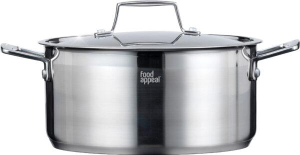 """סיר 28 ס""""מ נירוסטה Food Appeal Silver Edge פוד אפיל"""