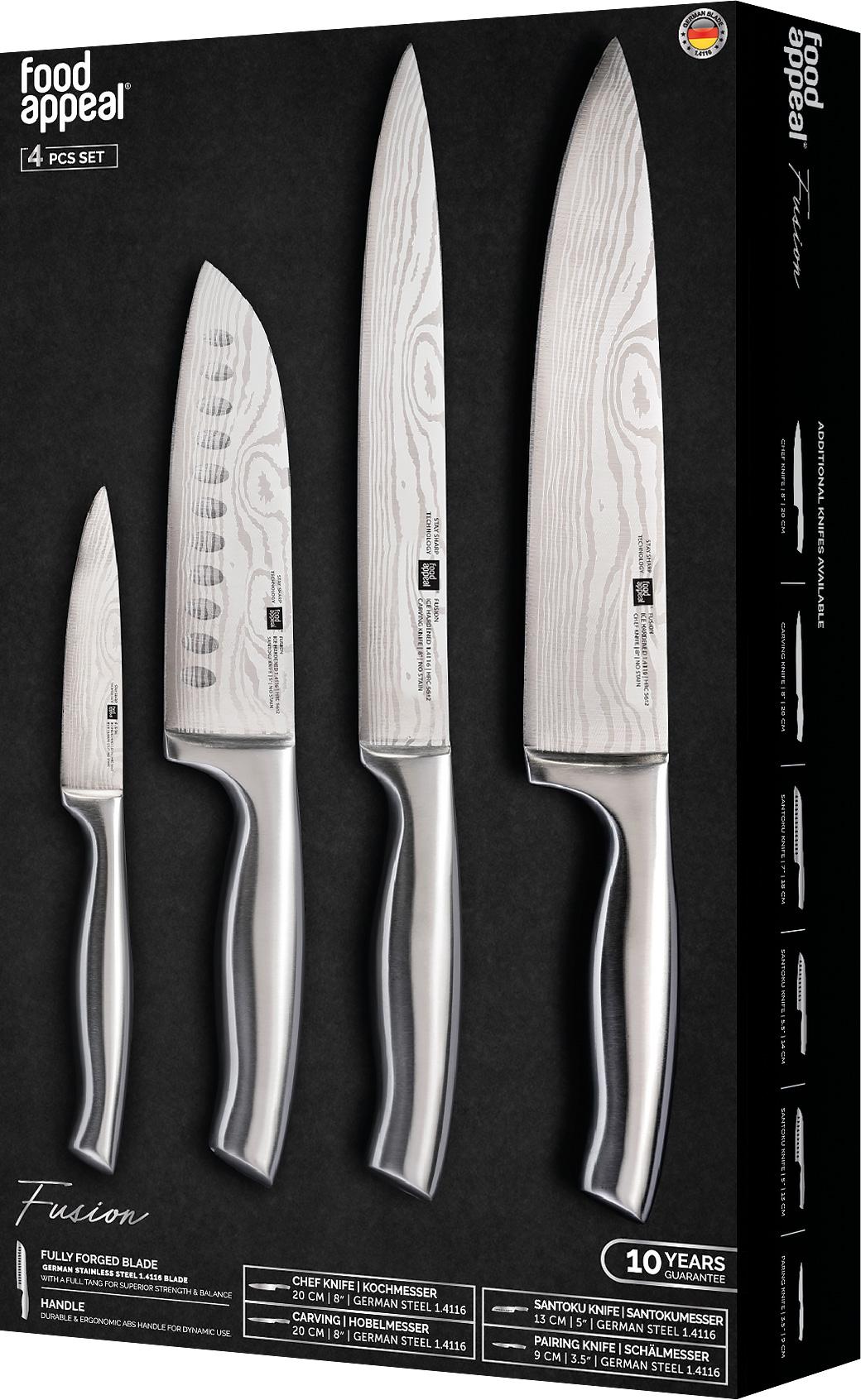 מארז 4 סכינים Food Appeal Fusion פוד אפיל